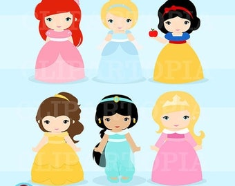 "50% OFF SALE Clasicc Princess Digital Clipart: ""PRINCESS""  Princess clip art, Princess Clipart for Personal and Commercial Use / Instant Dow"