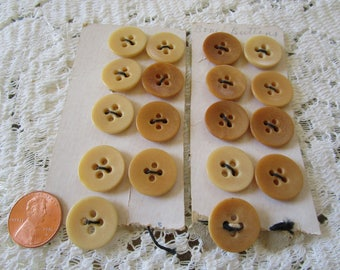 Vintage Bone Buttons on Cards