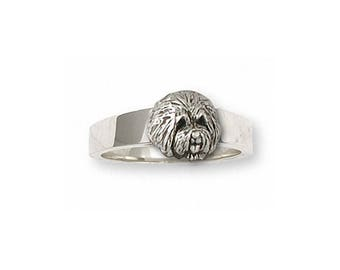 Old English Sheepdog Ring Jewelry Sterling Silver Handmade Dog Ring OE4-R