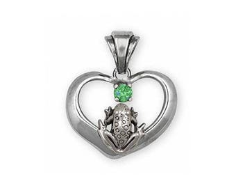 Frog Pendant Jewelry Sterling Silver Handmade Frog Pendant FGH1-SP
