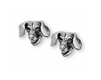 Dachshund Jewelry Sterling Silver Dachshund Earrings Jewelry Handmade Dog Jewelry AD4C-E