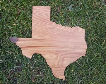 Texas Wall Art, Wooden Texas Map, Rustic Texas Decor, Texas Outline Decor,