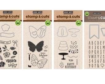 Hero Arts Stamp & Cut Die sets x4 -   cc08