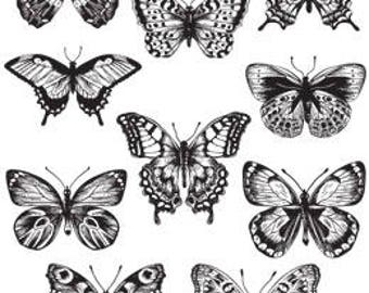 Tim Holtz FLUTTER Cling Stamps Stampers Anonymous Stamps  set CMS294 cc51