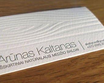 Letterpress business card choice image business card template letterpress business cards etsy 100 cotton paper letterpress business card with wooden texture colourmoves colourmoves Gallery