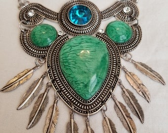 Green and Blue Stone Necklace