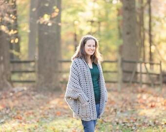 Chunky Crochet sweater - crochet sweater - chunky crochet cardigan - crochet shrug - chunky crochet shrug - winter accessory -fall accessory