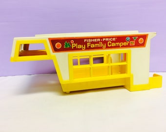 Vintage Fisher Price Camper, Play Family Camper, 1970s Little People, FP Toys, 1970s Toys, Fisher Price Little People, Top Only, Vintage Toy