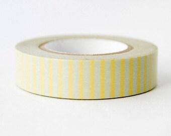 Yellow Stripe Washi Tape - Scrapbooking - Bullet Journal - Planner - Japanese Washi