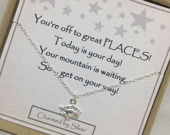 Sterling Silver Graduate Charm Necklace - a perfect gift with a perfect message
