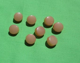 Lot Of Vintage Peach Colored Plastic Buttons