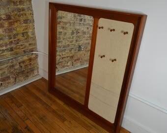 Askel Kjensgaard Large Danish Teak Mirror with Storage