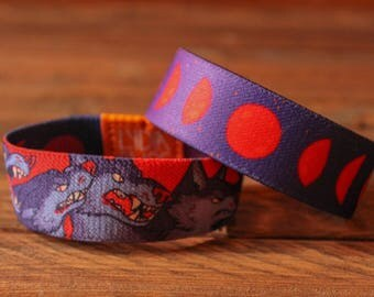 Halloween Fabric Bracelet - Werewolves