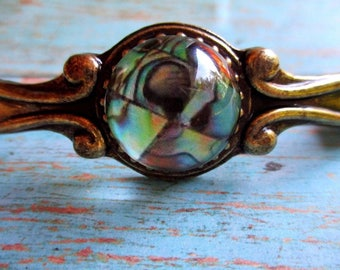 6 Gorgeous Nautical Faux Abalone Beach Cabinet Drawer Handles Pulls Tropical