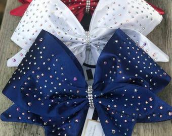 Satin Fabric Cheer Bows