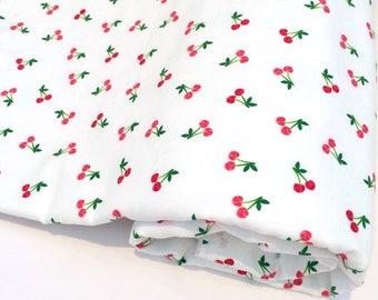 Bamboo & Org. Cotton Baby blanket, cherries, stroller blanket, baby blanket, Organic Cotton, baby shower gift, Pram blanket, car blanket
