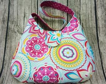 Handmade shoulder bag, Shoulder bag, Phoebe bag, Handmade fabric bag