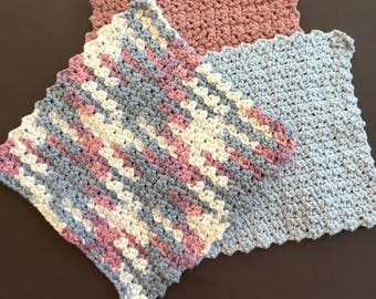 Cotton Dish Cloths ~ Cotton Wash Cloths ~ Kitchen Cloths ~ Crochet Dish Cloths ~ Dish Rags ~ Crochet Wash Cloths ~ Housewarming Gift
