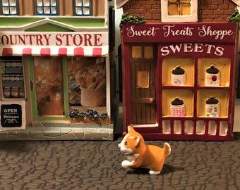 Miniature Puppy, Fairy Garden Pet, Miniature Dog, Tiny Dog, Dog Figurine