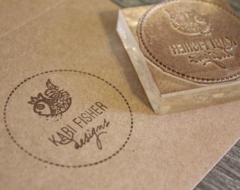 Custom Logo Stamp - 4 x 3 Inches