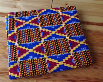 Kente Wax Prints Africa - Red Blue and Yellow - 115cm x 50 cm