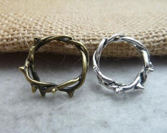 1PC 23-16mm Antique Bronze Antique Silver Finger Rings Jewelry Findings Ac7486