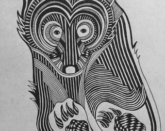 Bear Zentangle