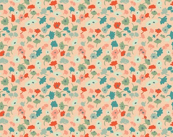 "Rapture Fabric from Rapture by Pat Bravo from Art Gallery Fabrics ""Delicate Femme Apricot"". Floral. 100% cotton. RPT-2701"