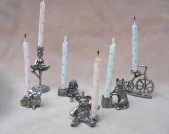 Pewter Birthday Cake Set