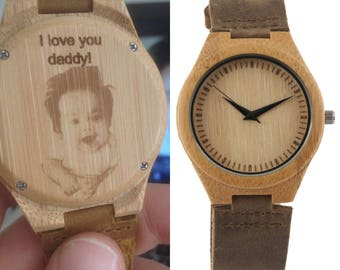 personalized engraved wood watch, wooden watch, valentines day, fathers day, christmas gift, groomsmen gifts, anniversary gift, mens gift
