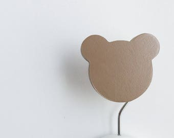 Wall Hook Teddy Coffee, Kids Wall Hook, Kids Hooks, Kids Room Decor, Wooden Wall Hooks, Wall Hooks for Kids