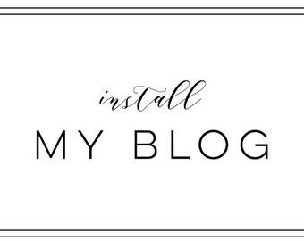 Add On - Install My Blog