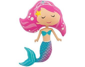 Giant 37 inch MERMAID Foil Mylar Balloon