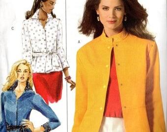 Creative Machine Embroidery Butterick SHIRT JACKET SHIRT Sash Pattern 4992 Misses 16 18 20 22