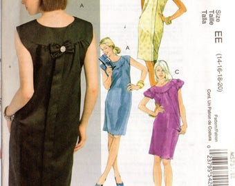 McCall's LAURA ASHLEY Pattern 5751 Pullover DRESSES Misses Sizes 6 8 10 12 14