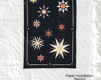 """STARS QUILTED Wall Hanging Pattern 24"""" X 36"""""""