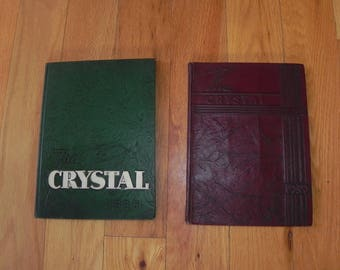 1930's Yearbooks (2) of The Crystal - Lexington High School, Virginia