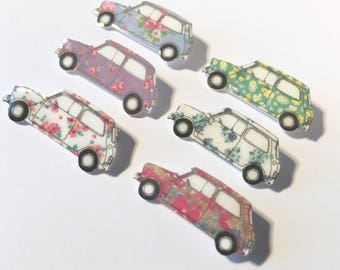 Floral  classic mini brooch in 6 different colours!