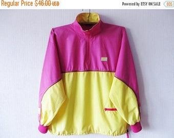 CIJ SALE NIKE Windbreaker Pink Anorak Jacket Hipster Jacket Neon Pink Yellow Parka Lightweight Jogging Jacket Oregon Usa Xl Large Size Windb