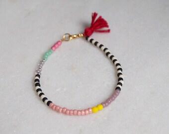 The ZEBRA COLLECTION - glass bead bracelet - by STICKTAILS