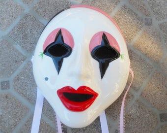 Ceramic Wall Mask Collectible Mask Wall Decor Mask Clown Mask