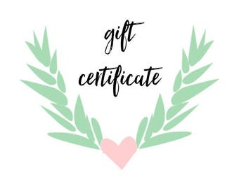 Gift Certificate to FAWN + SAGE
