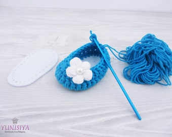 Baby shoe soles Felt Soles for Crocheted Shoes for Slippers made from Felt White felt sole