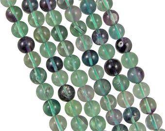 10 x 6mm Fluorite round beads