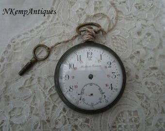 Antique pocket watch and key 1900 restoration project