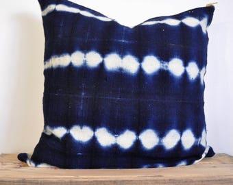 Indigo African Mudcloth decorative pillow | Indigo Pillow | Indigo Mudcloth | Mudcloth Pillow