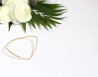 Fine gold square ring