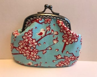 Birds and Cherry Blossom Coin Purse
