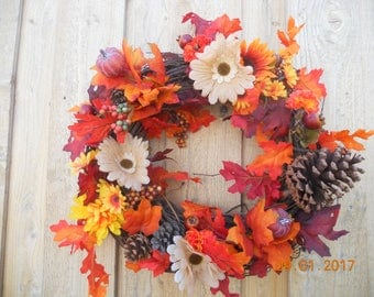 Fall Wreath ~~ Autumn Wreath ~~ Grapevine Fall Wreath