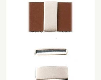 On Sale NOW 25%OFF Narrow Bar Sliders For 20mm Flat Leather Cord - Antique Silver - Z4568 - Qty 2